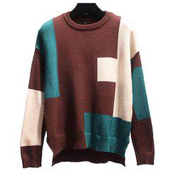 Women's Plus Size Long Sleeve Round Collur Sweater -