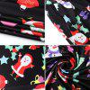 Christmas Cartoon Snowflake Santa Print Long Sleeve Dress -