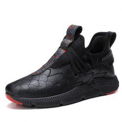 Men Casual Fashion Lace Up Outdoor Soft Breathable Hiking Shoes -