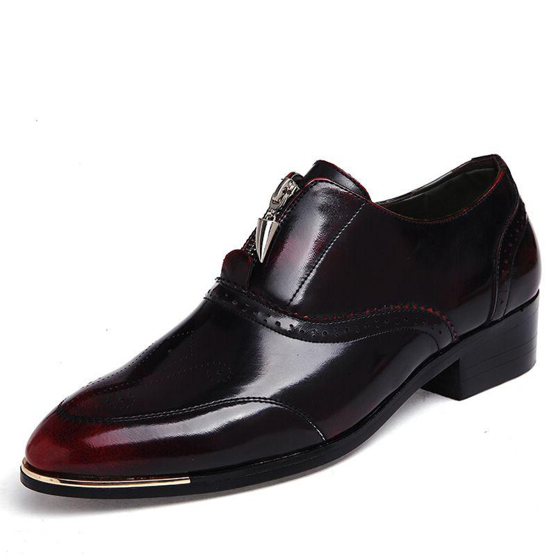 2019 Men Business Casual Shoes Formal Loafers Party Wedding Sneakers ...