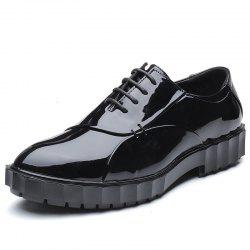Men Pu Leather Fashion Party Wedding Business Flat Shoes -