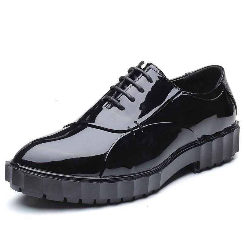 Buy Men Pu Leather Fashion Party Wedding Business Flat Shoes