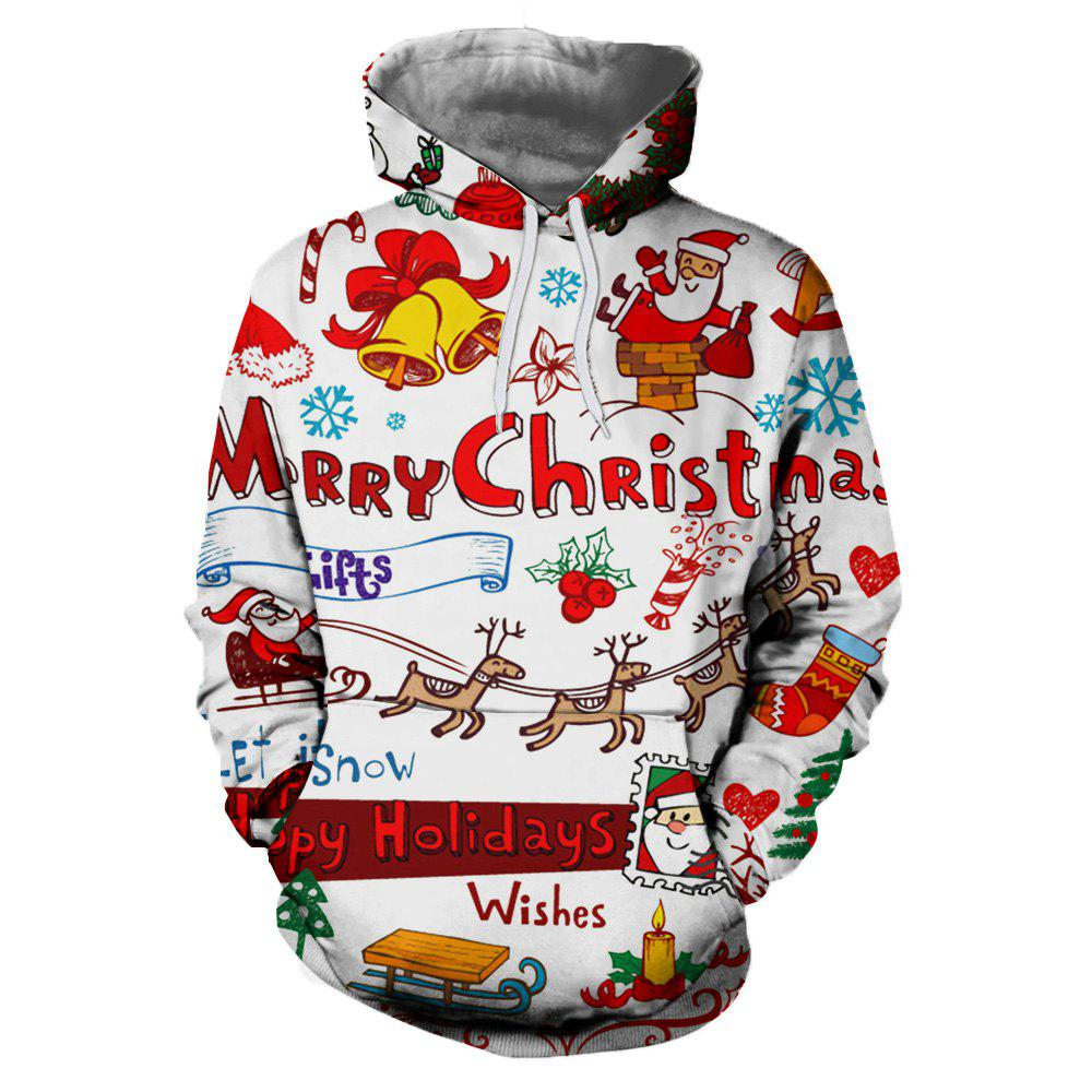 Mesdames Nouveau Casual Fashion Christmas Impression 3D Sweat à capuche