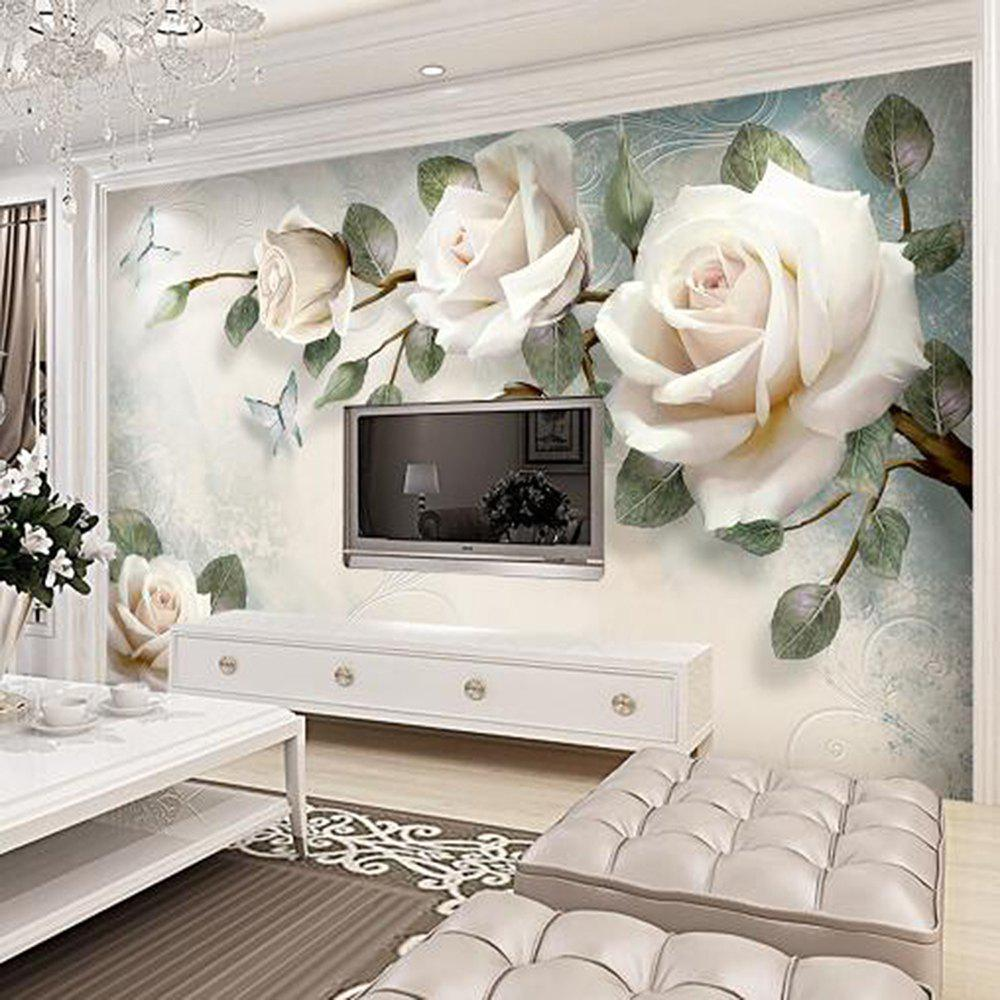 Champagne Rose Wallpaper Wall Stickers Mural Tv Bedroom