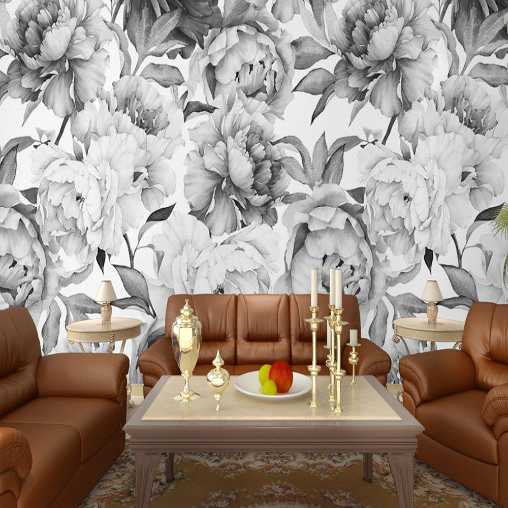 Black And White Rose Flower Wallpaper Wall Sticker Mural Tv Bedroom Wall