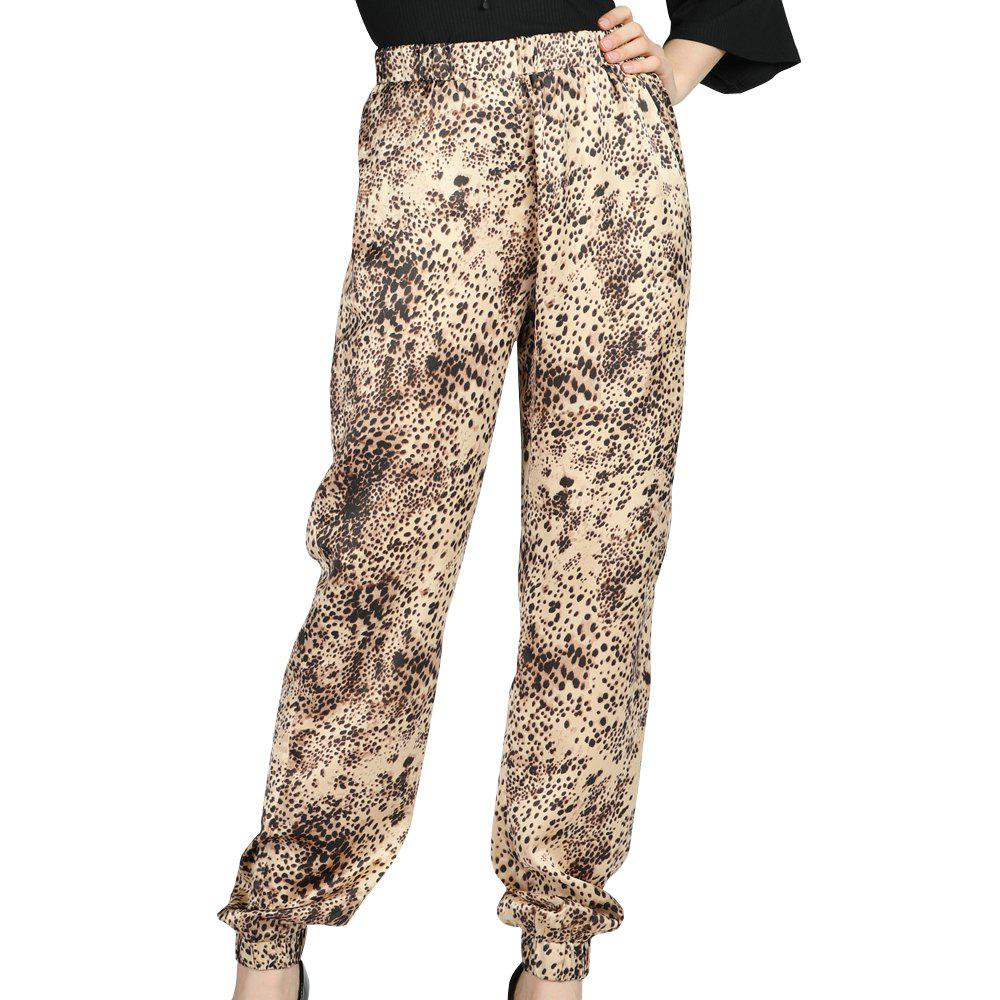 74b0ac3d13a 2018 Sbetro Female Leopard Trousers Casual Fashion Harem Pants In ...