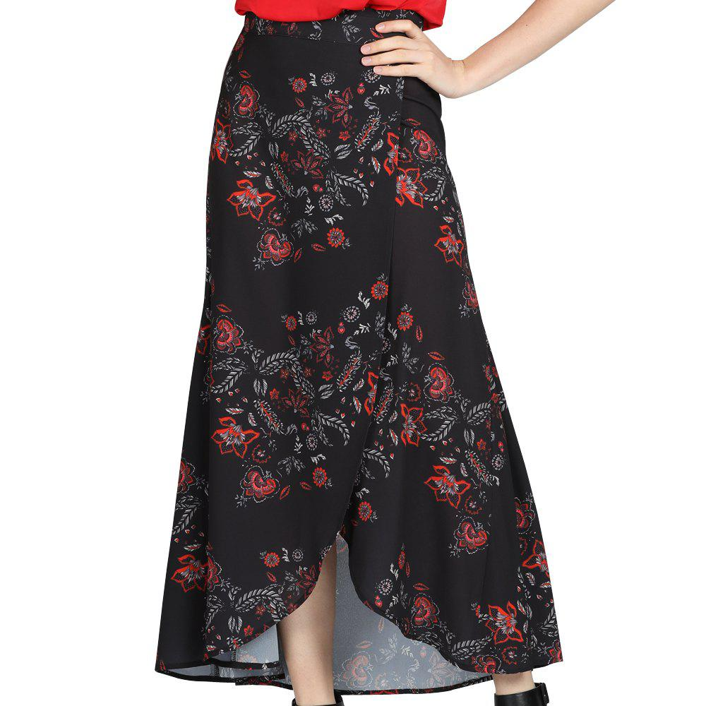 Online SBETRO Floral Print Skirt Ankle Length A-line Chinoiserie