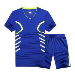 Fast Dry Exercise Set Outdoor Running Sportswear Fat Up To 9XL -