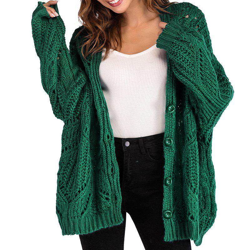 Sale Autumn V Casual Long Sleeved Loose Sweater Jacket
