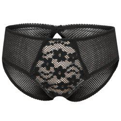 MISSOMO Fashion Sexy Flower Lace Polka Dot Mesh Stitching Openwork Bow Underwear -