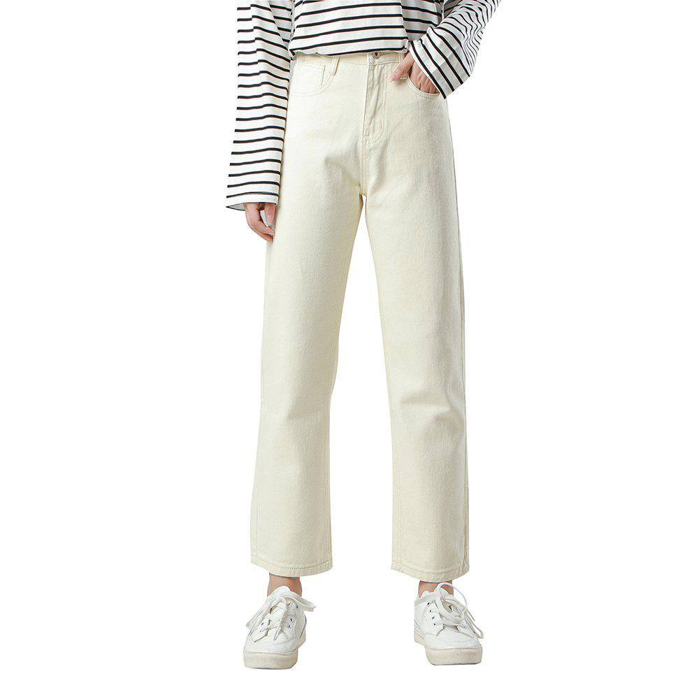 new list incredible prices official site PURPLEWIND / Jean droit femme taille haute blanc