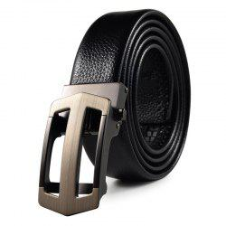 Men's Belt Hollow Out Automatic Buckle Business Casual Belt Accessory -
