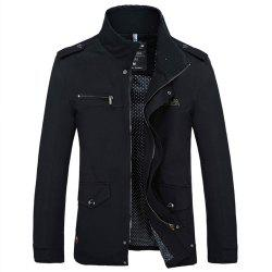 New Spring Autumn Winter Fashion Men Jacket Slim Causal Cotton Jacket -