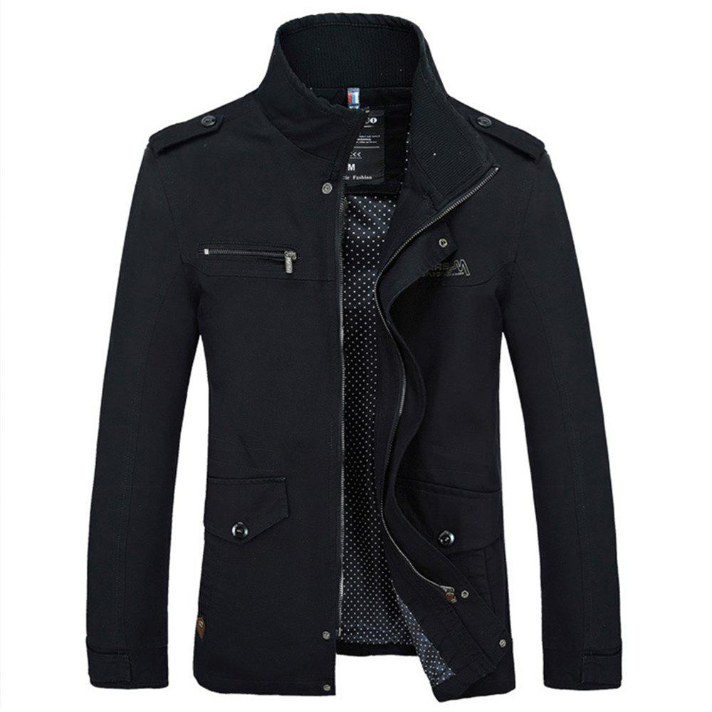 Latest New Spring Autumn Winter Fashion Men Jacket Slim Causal Cotton Jacket