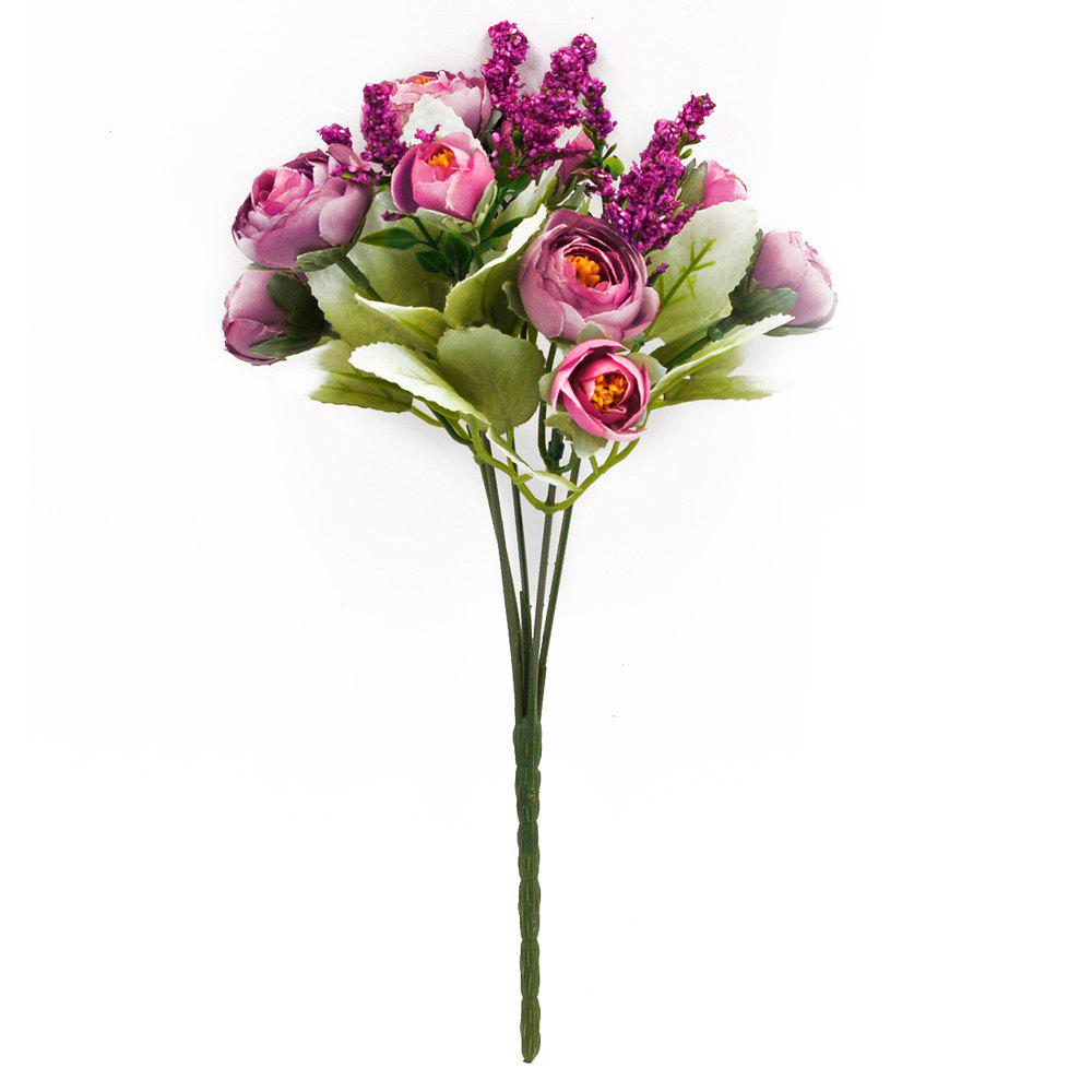 Store A Bouquet of 5 Heads Peony Home Decoration Branch of Artificial Flowers