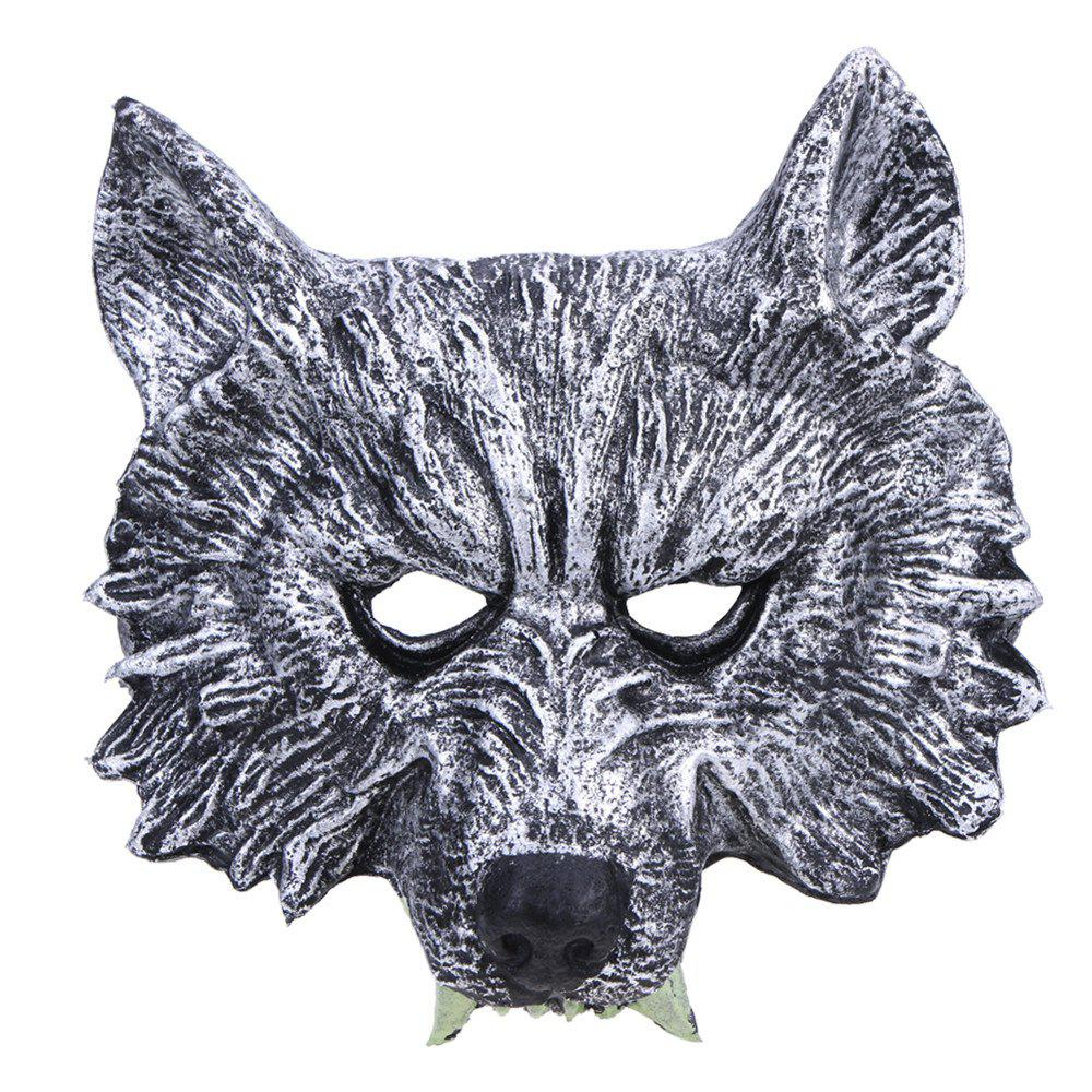 1Pc Halloween Creepy Rubber Animal Werewolf Wolf Head Mask Cosplay Party Costume Серый