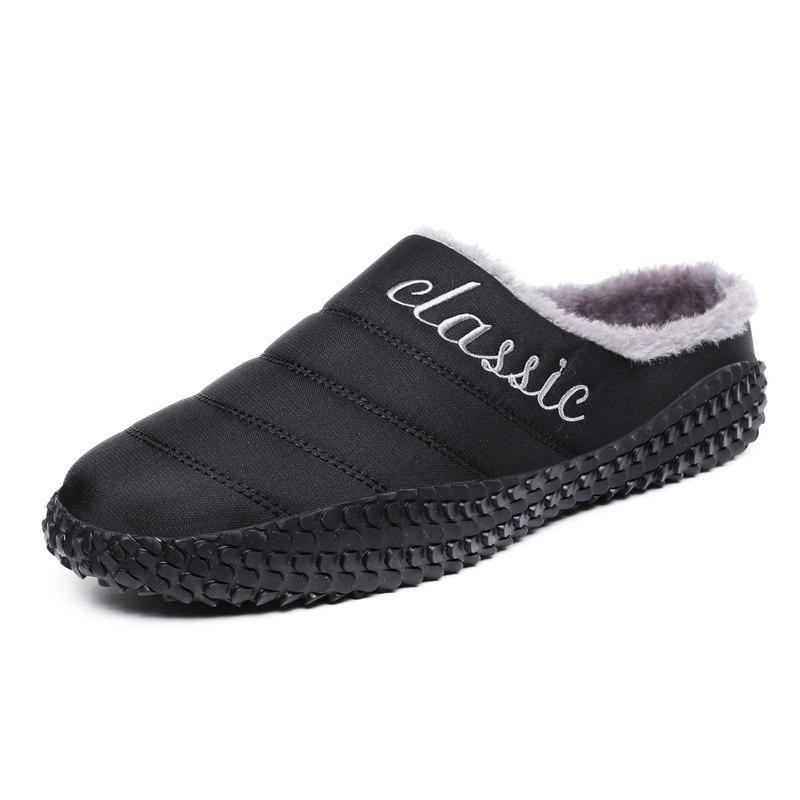 Shops Men Warm Non-Slip Indoor Casual Cotton Shoes