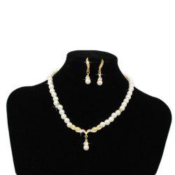 Pearl Jewelry Necklace Set Party Wedding Banquet Accessories -