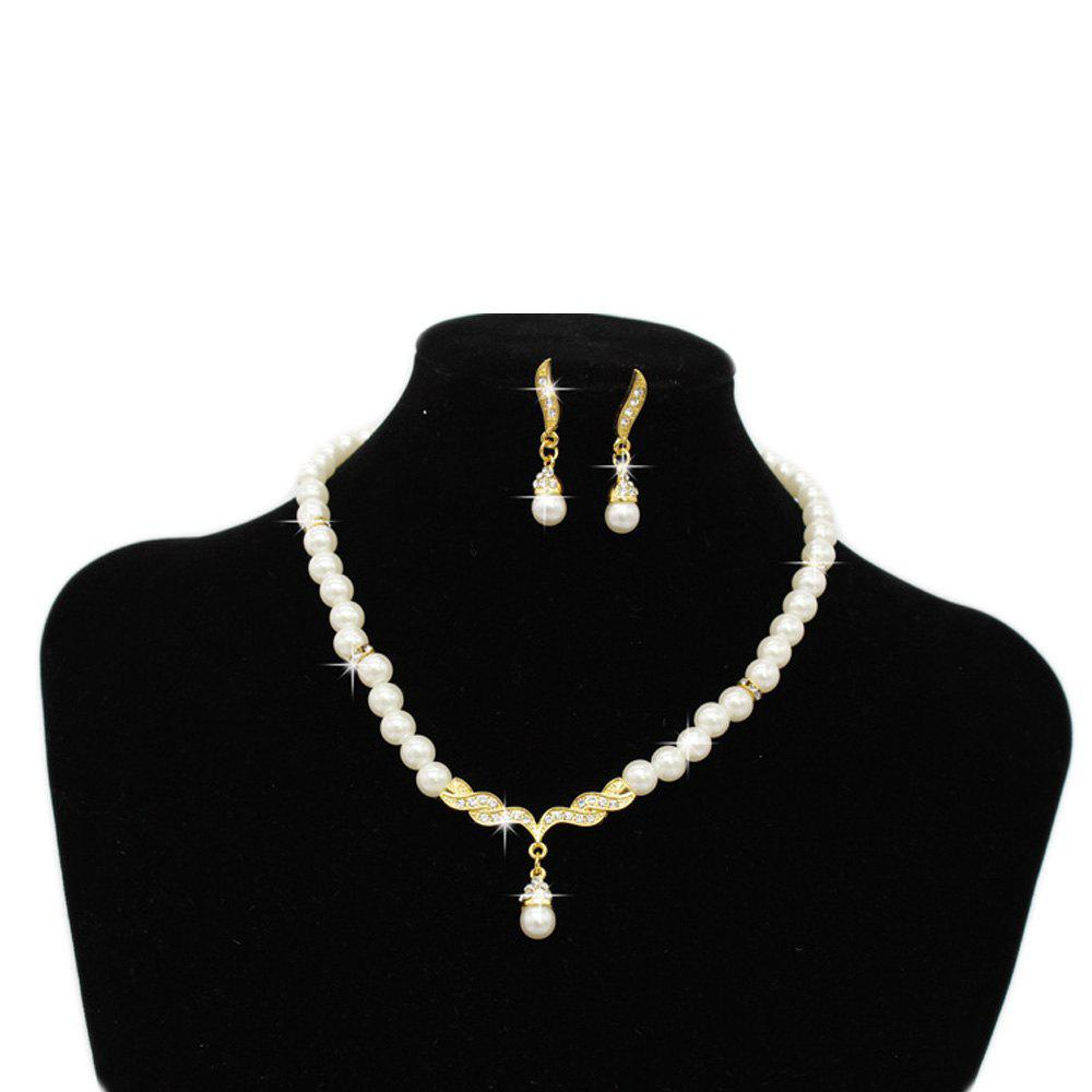 Chic Pearl Jewelry Necklace Set Party Wedding Banquet Accessories