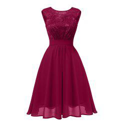 Ladies Autumn and Winter Temperament Thin Sweet Solid Color Hollow Sexy Dress -