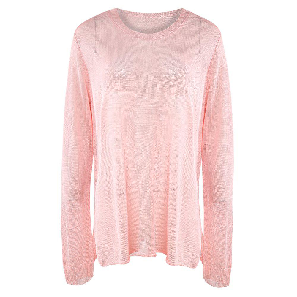 Outfit KISSMILK Women'S Casual Large Size Metal Knit Sweater Pink