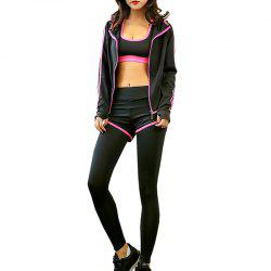 Women's Training Set 4Pcs Breathable Slim Soft Stylish Fitness Set -