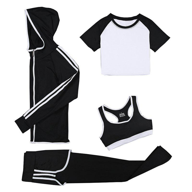 Trendy Women's Training Set 4Pcs Breathable Slim Soft Stylish Fitness Set