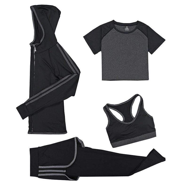 Outfit Women's Training Set 4Pcs Breathable Slim Soft Stylish Fitness Set