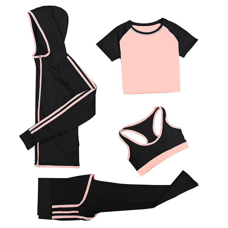 Chic Women's Training Set 4Pcs Breathable Slim Soft Stylish Fitness Set