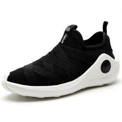 Mesh Breathable Sport Man Loafers Slip on Male Running Shoes -