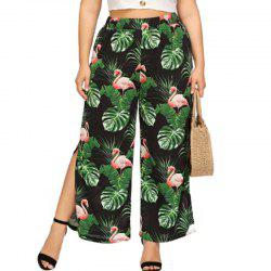 Flamingo Printing Wide Leg Pants -