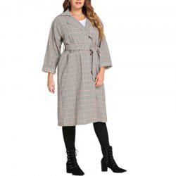 Trench-coat ample style tailleur à carreaux -