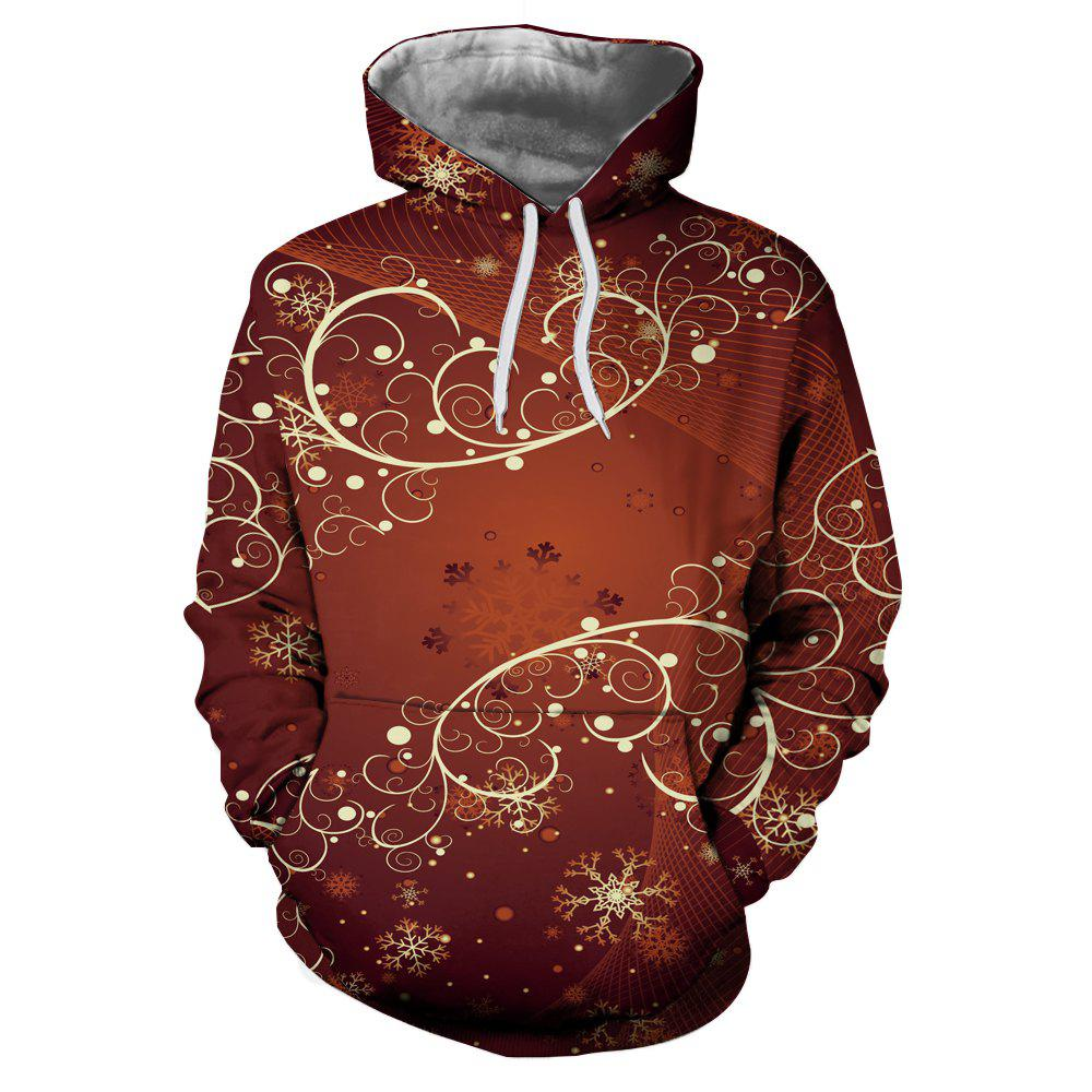 Online 3D Winter Sports Christmas Print Ladies Hoodie