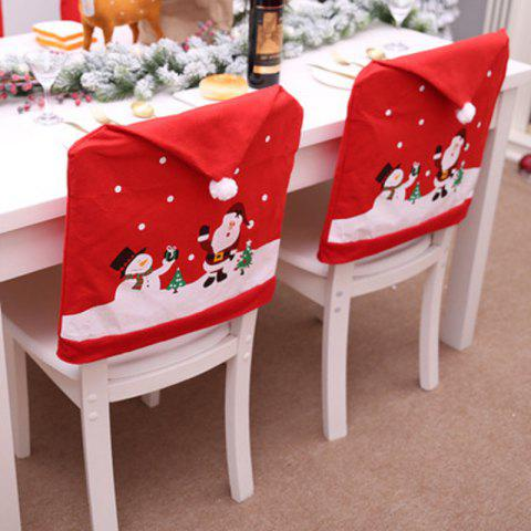 new non woven cartoon old man snowman chair set christmas hat