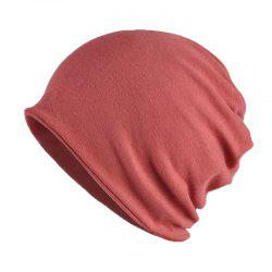 Men and Women Windproof Warm Cotton Solid Color Autumn and Winter Dual-use Hat -