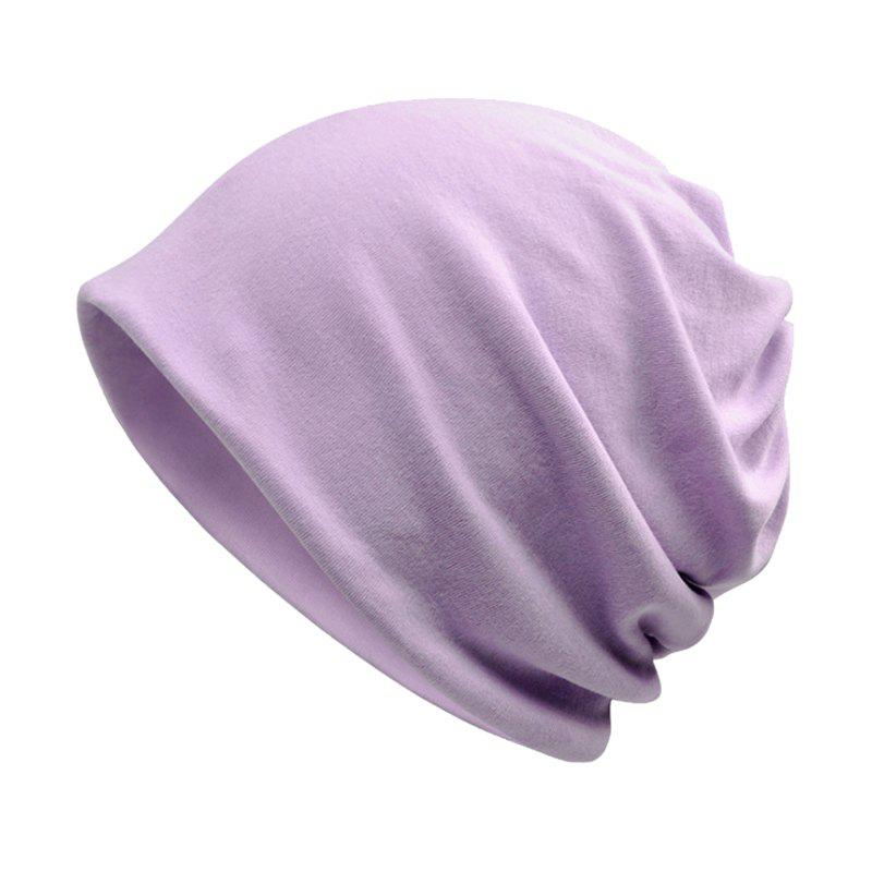 Discount Men and Women Windproof Warm Cotton Solid Color Autumn and Winter Dual-use Hat