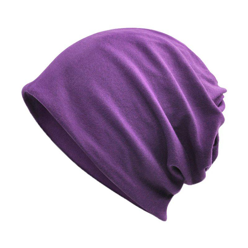 Chic Men and Women Windproof Warm Cotton Solid Color Autumn and Winter Dual-use Hat