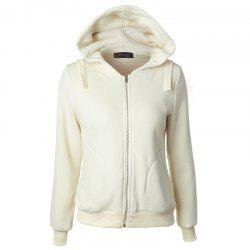 Autumn Casual Long Sleeved Hooded Sweater Coat -