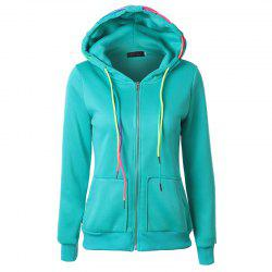 Autumn Leisure Sports Ropes and Hooded Coats -