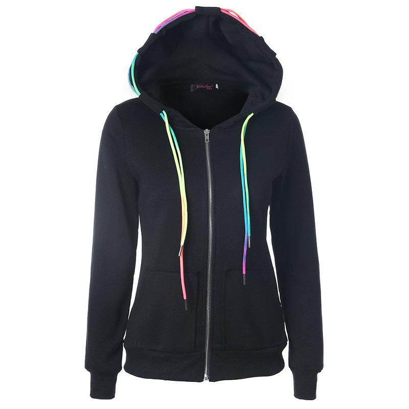 Trendy Autumn Leisure Sports Ropes and Hooded Coats