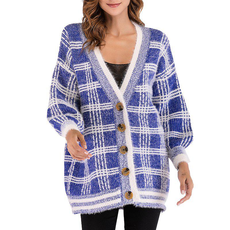 Buy Autumn Leisure V Collar Long Sleeved Loose Sweater Jacket