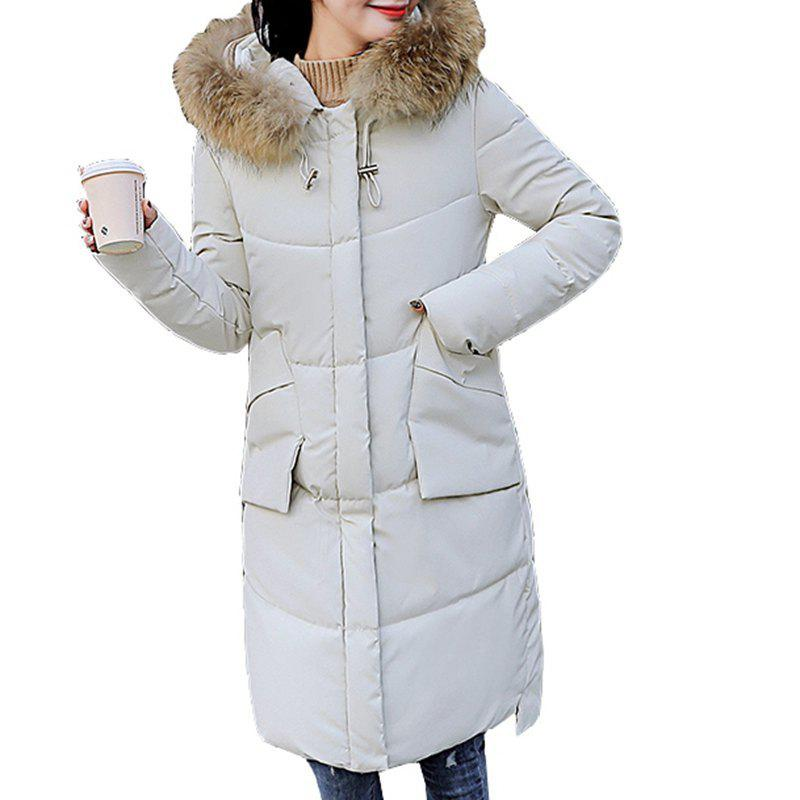Affordable 2018 New Women Hooded Coat Plus Size Thick Warm Top Slim Girl Long Parkas