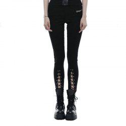 Girls New Design Lace-Up Tapered Leg Cotton Skinny Trousers Legging -