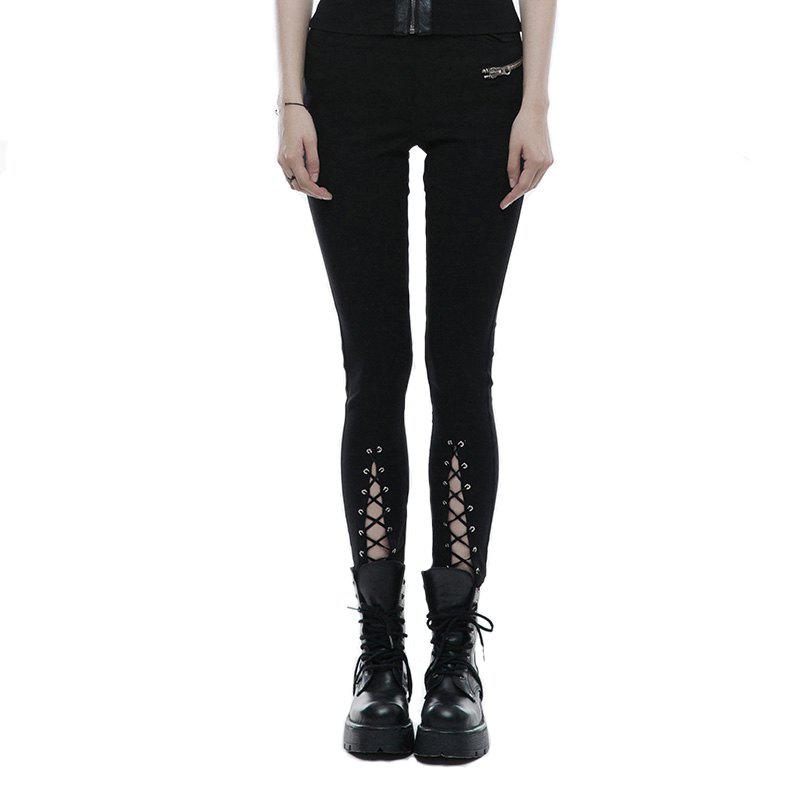 Store Girls New Design Lace-Up Tapered Leg Cotton Skinny Trousers Legging
