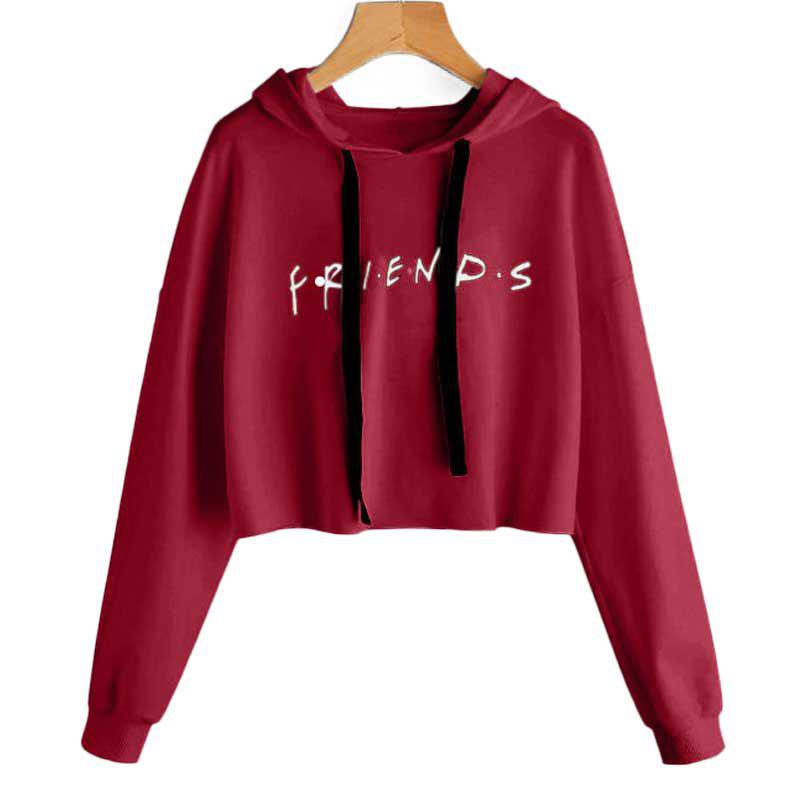New Letter Printed Long Sleeved Hooded Sweater