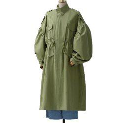 Women's Plus Size Loose Long Sleeve Trench Coat -