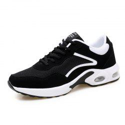 Men Casual Knitted Fashion Lace Up Outdoor Anti-Slip Athletic Breathable Shoes -