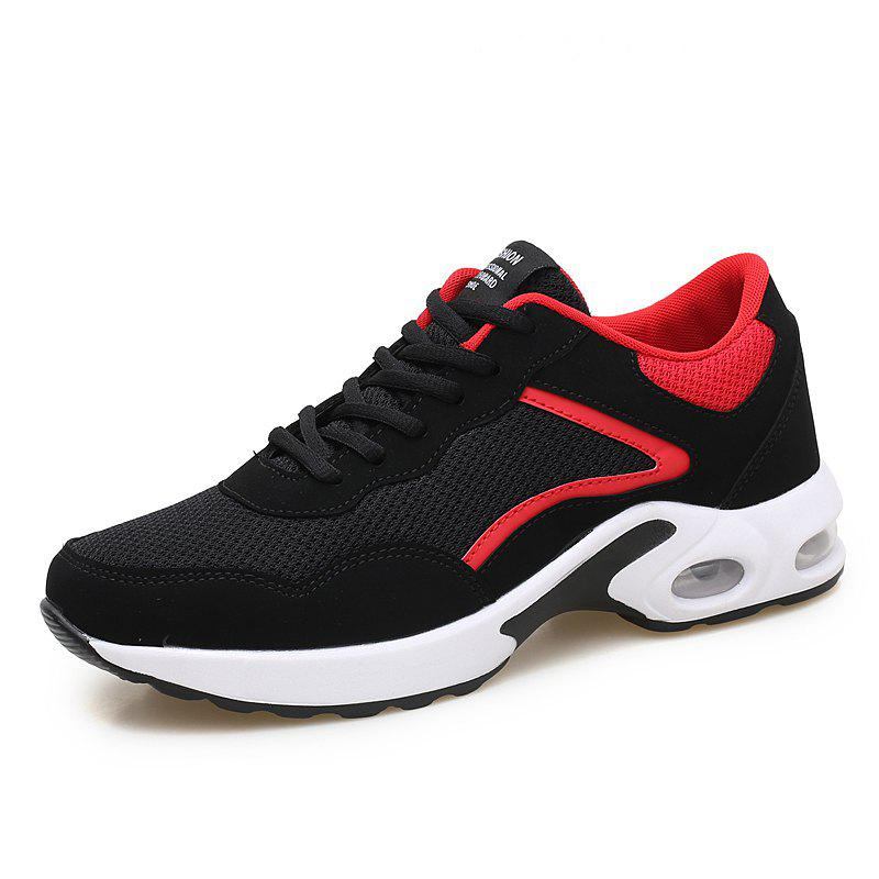 Best Men Casual Knitted Fashion Lace Up Outdoor Anti-Slip Athletic Breathable Shoes