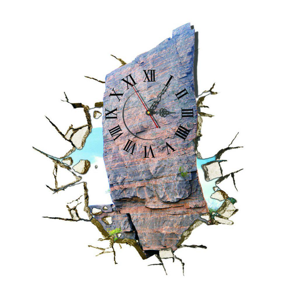 Unique Wall 3D Clock Sticker for Home Room Decoration Gift