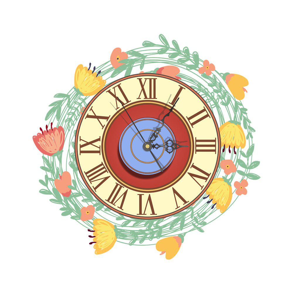 Cheap Wall 3D Clock Sticker for Home Room Decoration Gift